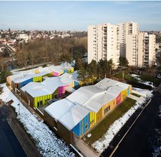 Escuela infantil en Epinay-sous-Senart / Epinay Nursery School - Archkids. Arquitectura para niños. Architecture for kids. Architecture for children.