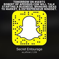 Tomorrow on Episode 2 of #SEBTS our #SecretAcademy student Robert Quarantello of ApexDuo.com will be on sharing his story of how he invented the patent-pending Apex Duo razor (which originally started as a play-doh and hot-glue prototype) and will answer your questions on starting a business making your idea come to life the mindset needed as an entrepreneur and more! Follow along on Snapchat using our #Snapcode or by typing in @ se_official. #motivation #entrepreneur #smallbusiness…