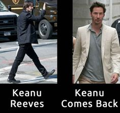 Funny pictures about Keanu Reeves. Oh, and cool pics about Keanu Reeves. Also, Keanu Reeves photos. Bad Puns, Funny Puns, Haha Funny, Funny Stuff, Funny Things, Funny Shit, Funny Fails, Christopher Walken Memes, Celebrity Name Puns