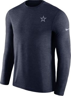 c28c946f6bf Nike Men s Dallas Cowboys Sideline Coaches Performance Navy Long Sleeve  Shirt