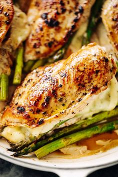 The BEST Asparagus Stuffed Chicken Breasts Breasts Recipe - Cafe Delites Chicken Asparagus, How To Cook Asparagus, Asparagus Recipe, Slow Cooker Recipes, Cooking Recipes, Healthy Recipes, Yummy Recipes, Cooking Tips, Recipies