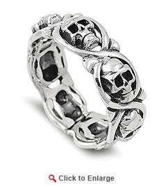Sterling Silver Infinity Skull Ring, got this one and it's a great ring. Looks good and feels great on my hand. Love it.
