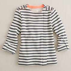 Girls' walker-stripe jacket : knits & tees | J.Crew