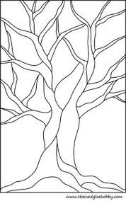 free stained glass patterns art nouveau tree - Google Search