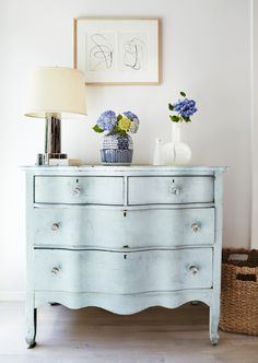 light blue romantic sideboard