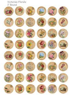 Verkauf viktorianischen Florals Digital Collage von OldMarket
