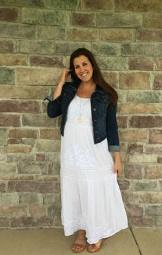 Maxi and denim jacke
