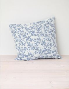 Meadow, Indigo Blue Cushion Cover