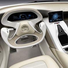 Love this Mercedes prototype driver's cockpit!