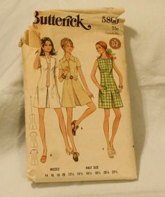 Butterick 5800 Vintage 1960s Mod Dress by EleanorMeriwether, $5.00