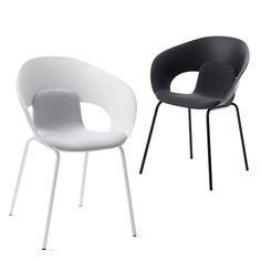 Plus qu'une simple chaise, sans être tout à fait un fauteuil, quelque chose qui se situe quelque part entre les deux. Avec DELI, l'idée était de créer une chaise empilable attractive, avec une coquille d'assise de forme organique, où le design et le confort invitent l'utilisateur à rester un peu plus longtemps. #kinnarps #skandiform #deli
