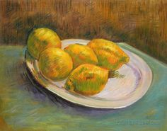 Still Life with Lemons on a Plate by Vincent van Gogh