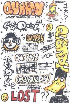 Graffiti Words, Graffiti Lettering Fonts, Graffiti Doodles, Graffiti Tagging, Graffiti Drawing, Graffiti Styles, Murals Street Art, Street Art Graffiti, A Level Art Sketchbook