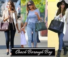The latest accessory on the celebrity set's arms has big shoes to fill. Inspired by New York City and its five boroughs, Coach's 'The Borough' bag Coach Bags Sale, Coach Handbags Outlet, Coach Purses, Fashion Week Paris, Coach Borough Bag, Best Instagram Posts, Apostolic Fashion, Apostolic Style, Handbag Stores