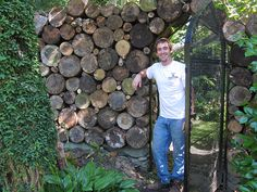 A GOTHIC WOODPILE by sakonnetgarden, via Flickr  (great use for stumps!