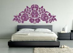 "Hungarian Folk Kalocsa ""Style"" Big Vinyl Wall Decal: Maybe this instead of wallpaper. Hungarian Tattoo, Hungarian Embroidery, Cosy Bedroom, Bedroom Decor, Wall Decor, Ideas Hogar, Space Saving Furniture, Stencil Diy, Dream Decor"