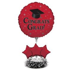 Pack of 4 Red Graduation Congrats Grad AirFilled Balloon Foil Centerpiece Kit 30 * This is an Amazon Affiliate link. Find out more about the great product at the image link.