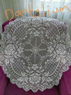 Crochet Tablecloth Pattern, Crochet Doily Patterns, Thread Crochet, Crochet Doilies, Crochet Lace, Free Crochet, Filet Crochet Charts, Crochet Diagram, Embroidery Motifs