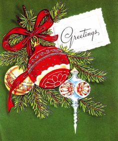 Festive vintage Christmas greetings. #vintage #Christmas #cards