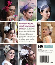 The back cover of the book on how to make fascinators