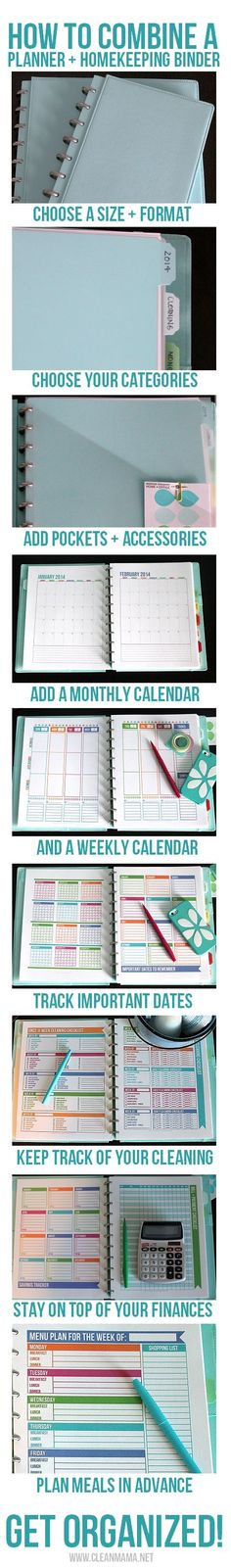Keep it SIMPLE!  How to Combine a Planner + Homekeeping Binder via Clean Mama