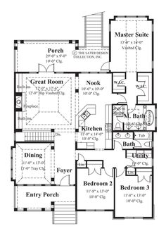 Whisperwood-Main Level Floor Plan-#6844... Master bedroom separation from bath!  and plenty of room for add downstairs
