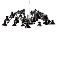 The Dear Ingo Suspension Light was designed by Ron Gilad for Moooi. Its name is an act of recognition to lighting designer Ingo Maurer. Candle Style Chandelier, Interior Paint Colors, Moooi Light, Black Chandelier, Pool Table Lighting, Chandelier Shades, Room Paint, Geometric Chandelier, Interior Paint