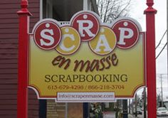 Scrap en masse is the most wonderful scrapbooking store located in Alfred Ontario, Canada (www.scrapenmasse.com) Scrapbooking Ideas, Ontario, Creations, Canada, Store, Crafts, Tent, Manualidades, Larger