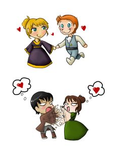 The two main Pride and Prejudice couples. So true, ain't it? XDD  Picture from: http://countesslainy.deviantart.com/