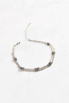 Mini Flower Layered Choker Necklace