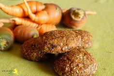 Ventanas verdes: galletas de lino molido en el bosque de zanahorias