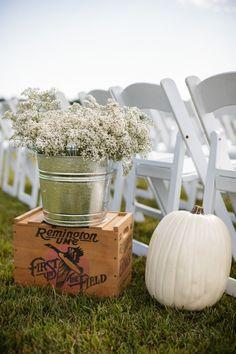 Fall Wedding Farm Decorations