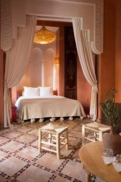 Riad Yasmine Morocco hotel review | House & Garden Moroccan Bedroom, Moroccan Interiors, Moroccan Design, Moroccan Decor, Morocco Hotel, Medina Morocco, Design Marocain, Riad Marrakech, Interior Decorating