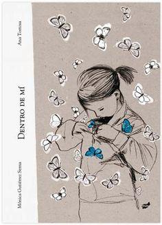 Dentro de mí es un cuento lírico, de exquisita sensibilidad, sobre una niña y su relación con una mariposa, más metafórica que real, con la que se sobresalta, suspira, ríe, se estremece, baila, corre...