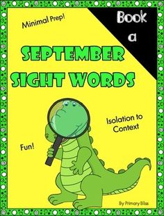 FREEBIE - A month's worth of sight word instruction that introduces a new set of words each week (38 words total - many are review from kindergarten). It engages students in fun games and activities to learn words in isolation and then helps them apply those words in context through sentence reading.