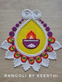 Easy Rangoli Designs Videos, Rangoli Designs Simple Diwali, Happy Diwali Rangoli, New Year Rangoli, Diya Rangoli, Rangoli Designs Latest, Rangoli Designs Flower, Colorful Rangoli Designs, Rangoli Ideas