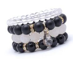Wristbands & Bracelets – Set of 4 bracelets Black 009A – a unique product by Blackif on DaWanda