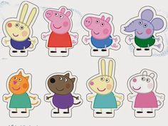 Splashing in muddy puddles - trouvaille Peppa Pig is a English toddler animated television Peppa E George, George Pig Party, Peppa Pig Familie, Peppa Pig Stickers, Peppa Pig Imagenes, Peppa Big, Peppa Pig Party Supplies, Pig Cupcakes, Party Cupcakes