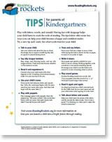 Reading Tips for Parents: Click on your child's age and find one-page Parent Tips that offer easy ways for parents to help kids become successful readers