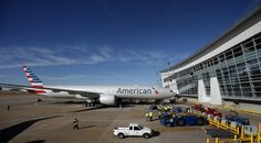 New American Airlines 777 is ready for its 1st flight with its new paint job.