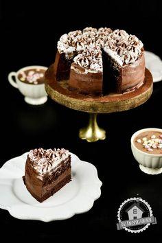Schokoladentorte mit Schoko und Baiser Creme