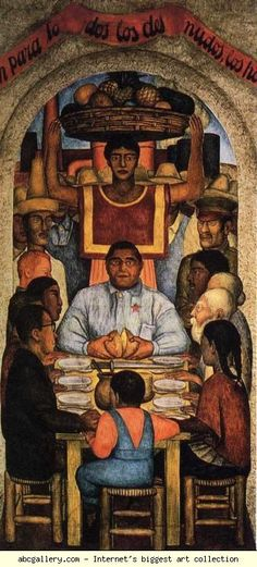 Diego Rivera. Our Bread. 1928. Fresco. South wall, Courtyard of the Fiestas, Ministry of Education, Mexico City, Mexico.