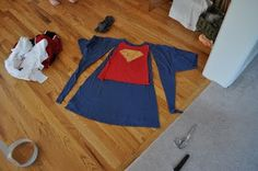 Secret Mommy: Easy & Cheap Superhero Birthday Party- made out of large T-Shirts