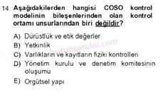 İşletme bölümü, 4. sınıf, DENETİM (isl401u) dersi, 2014 yılı, GÜZ dönemi, ARA SINAV , 14.soru