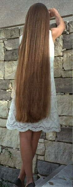 Girls with very long hair: Long hair girl shows off her floor length hair. Description from pinterest.com. I searched for this on bing.com/images