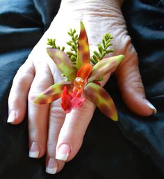 Orchid Finger Corsage  Ring Corsage  Alternative by paulasbartlion