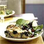 Frittata with Spinach, Potatoes, and Leeks Recipe | MyRecipes.com
