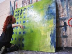 Atelier - abstrakte Kunst, abstrakte Malerei - Conny Niehoff