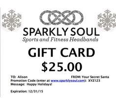 It's not too late to give that gift of sparkle with a @sparklysoulinc gift card - we can email it to you or your gift recipient!!! @sparklysoulinc Gift Cards are available at http://shop.sparklysoul.com/Holiday-Gift-Cards_c7.htm for $10, $15, $20 and $25! #giftcard #sparklysoulheadbands #tistheseason #stockingstuffers #secretsanta #hanukkah #christmas #santa #easyshopping