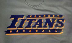 Kearney Titans Baseball - Baseball - sports - athletics - apparel - t-shirt - tee shirt - design - screen print - screenprint - Kearney Nebraska - Shirt Shack